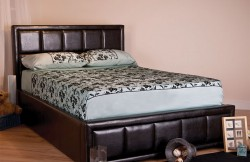 Faux Leather Ottoman Bed Frame