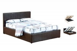Faux Leather Ottoman Bed Frame Soma